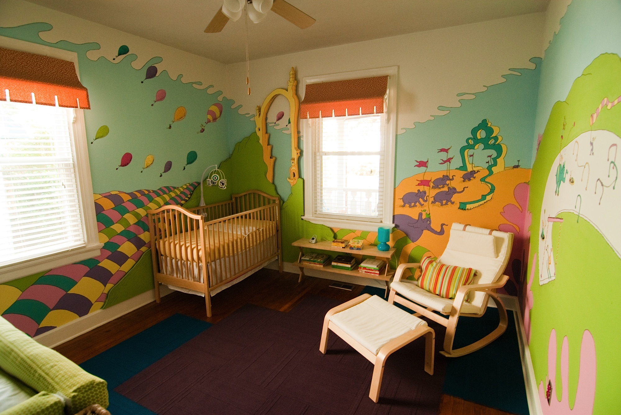 This room used to be the guest bedroom office  It is the only bedroom in  the house besides the master bedroom so Kathryn   Phil gave up the extra  space for. Nursery Design  DIY Dr  Seuss   Franklin Goose