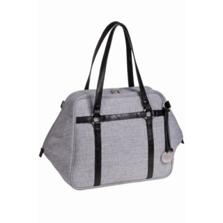 lassie black melange urban green label diaper bag