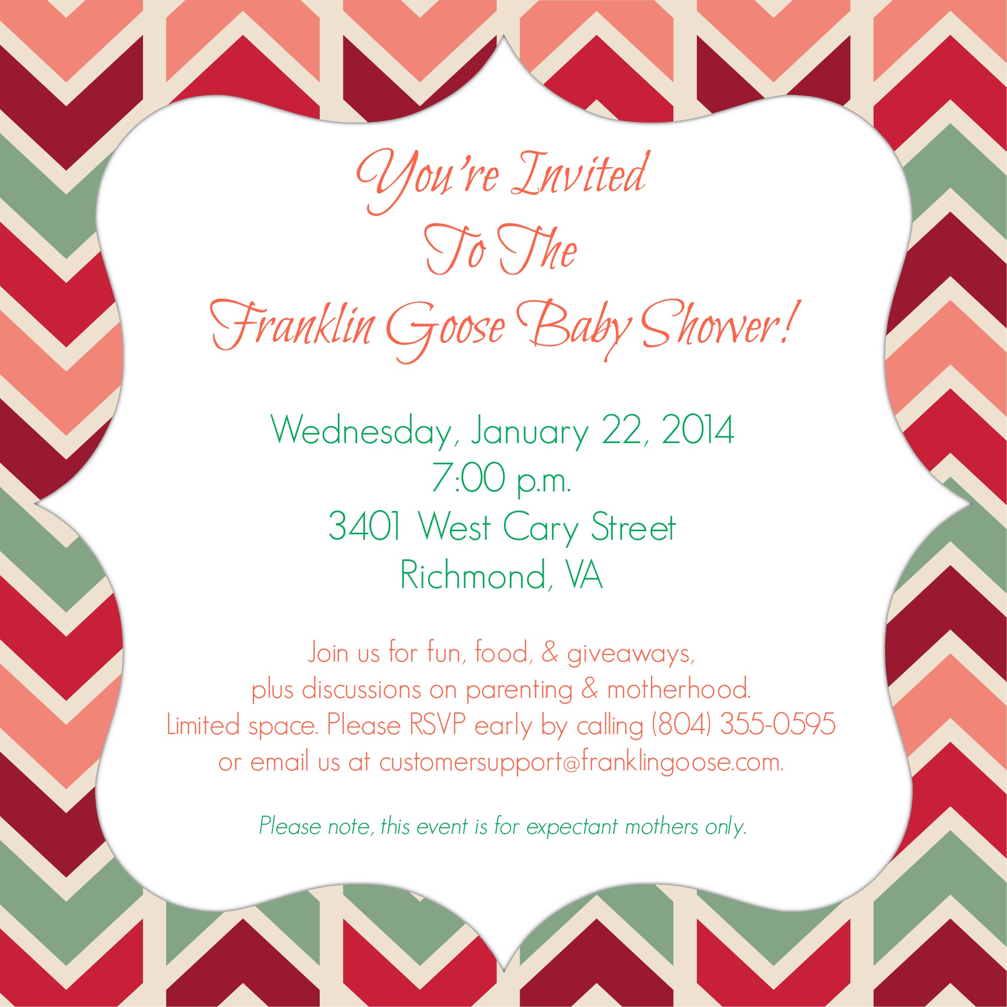 Youre invited to the franklin goose baby shower franklin goose baby shower invite 2 filmwisefo Choice Image
